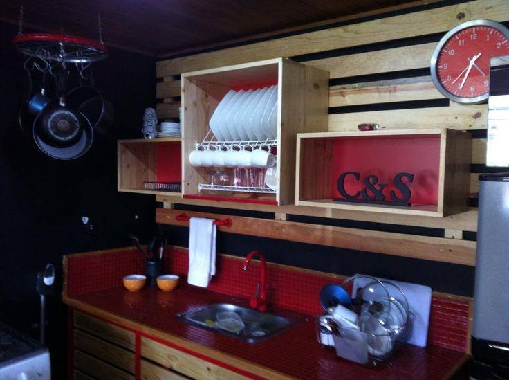 8 best Cocina hecha con madera residual de estibas images on ...