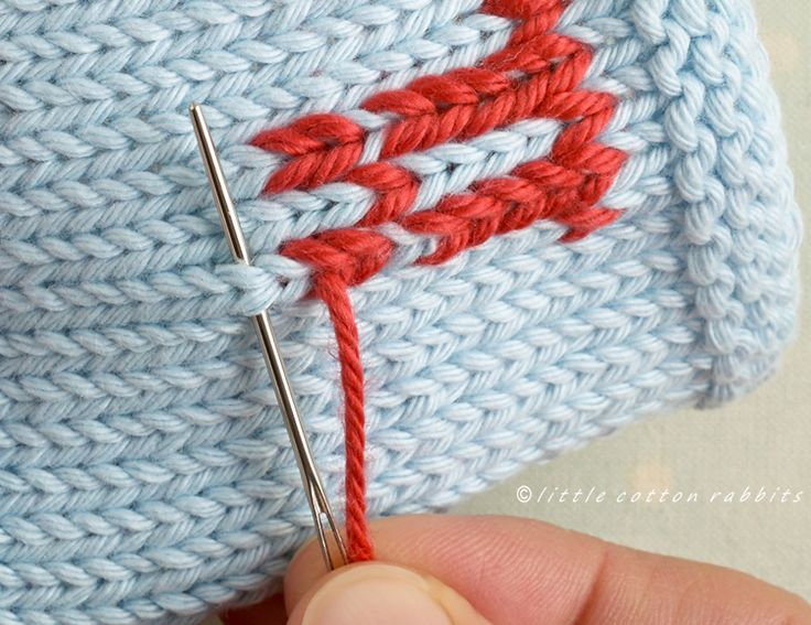 Duplicate stitch - Little Cotton Rabbits Tutorial
