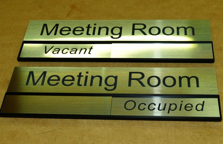 Room signs with status panel made to order in colour and room name you require
