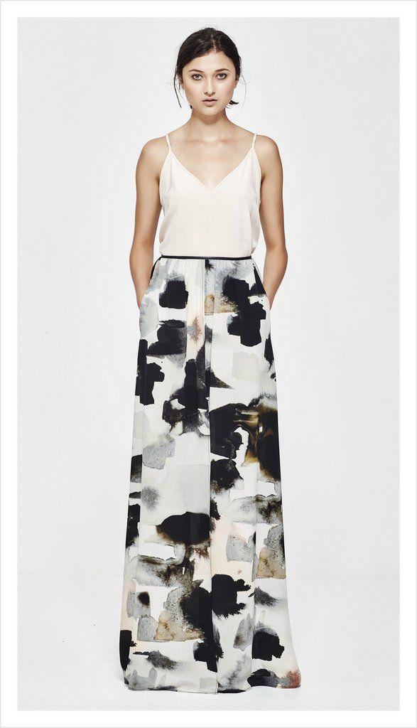 emmaline split skirt (sandstorm silk)