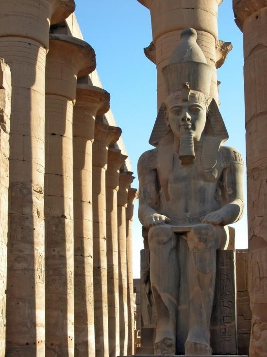 Statue of Ramesses II, Luxor, Egypt, 13th century BCE                                                                                                                                                                                 More