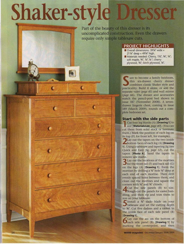 DIY Shaker-Style Dresser with Valet plan