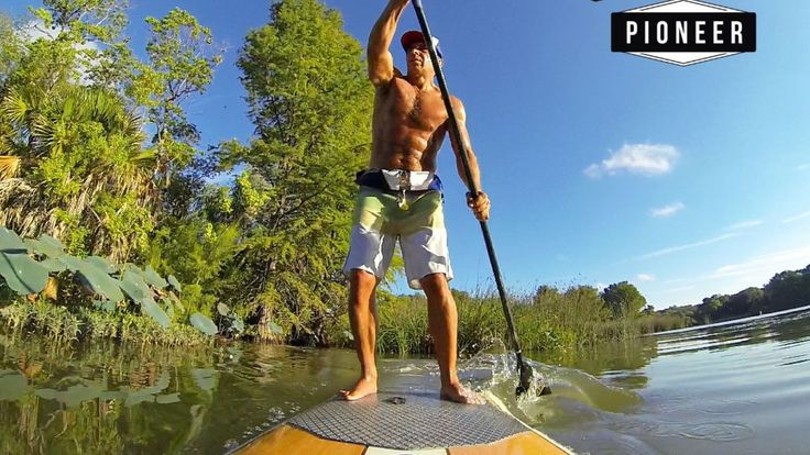"""SUP ATX Founder Nick Matzorkis riding the """"Pioneer"""" model paddle board.  Available here:  www.SUPATX.com"""