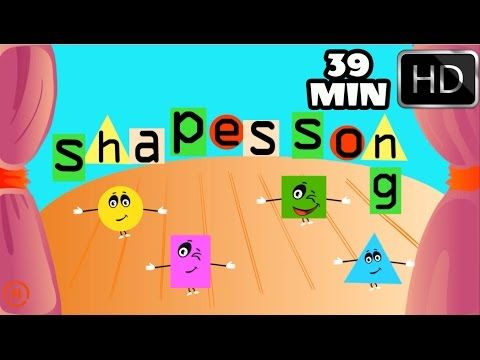 The Shapes Song | Shape song 2| Plus MORE 40 mins Top Rhymes for Childre...
