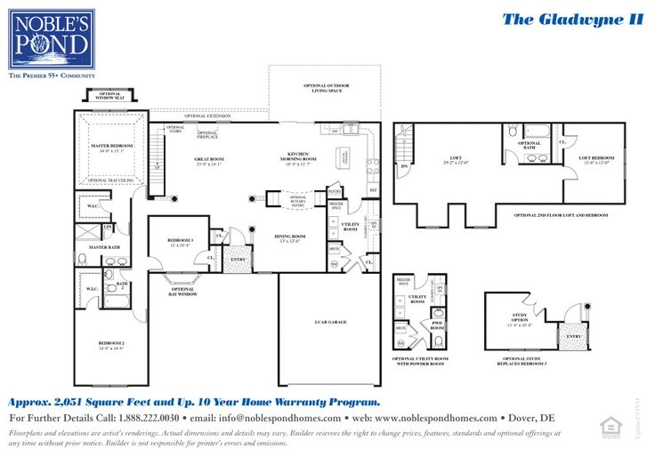 The Gladwyne's Floorplan at Noble's Pond