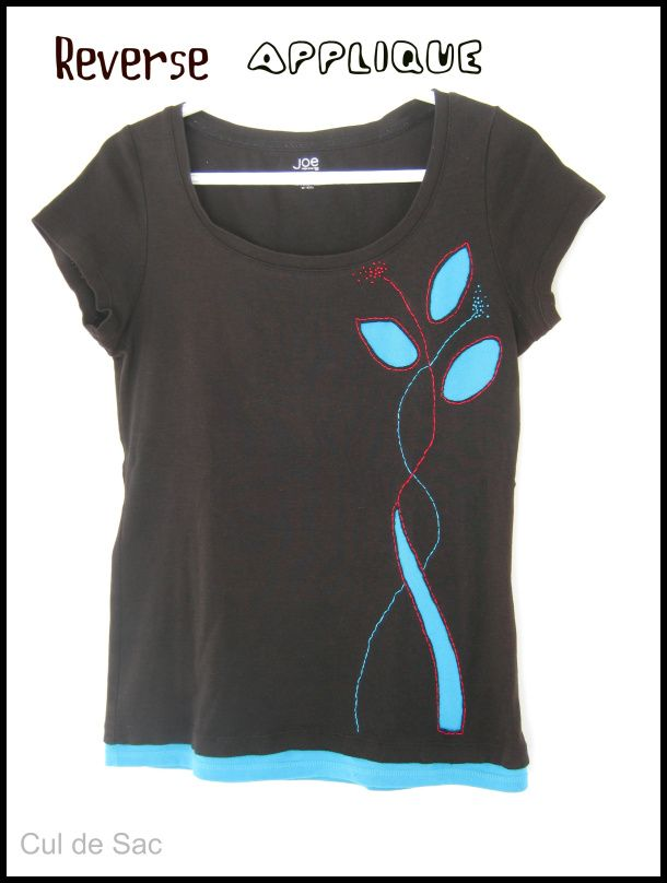 How to apply a reverse applique to an old t-shirt to refashion it and ...