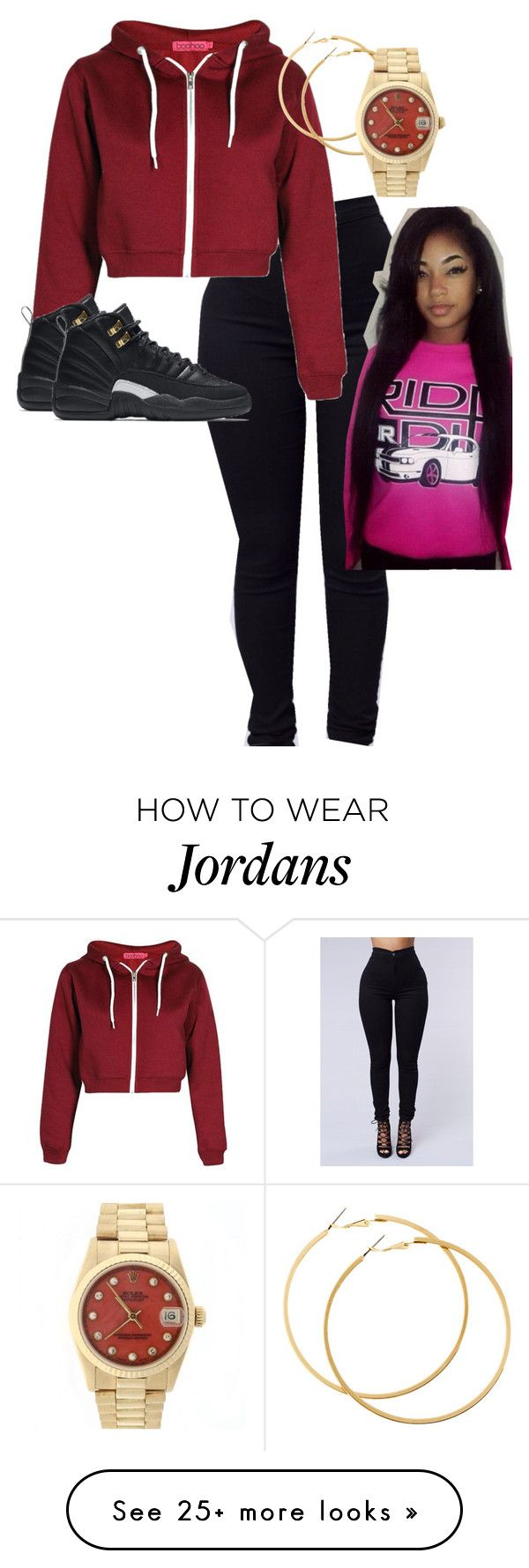"""wessuh?!"" by r0yalkae on Polyvore featuring Pacific Beach, NIKE, H&M and Rolex"