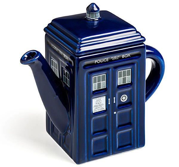 ThinkGeek :: Doctor Who TARDIS Teapot: Ceramic Teapot, Teas Time, Tardis Teapots, Doctorwho, Teas Pots, Doctors Who Tardis, Doctor Who Tardis, Dr. Who, Teas Kettles