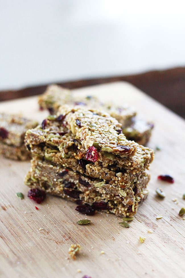 Homemade Brown Butter Cherry Pumpkin Seed Granola Bars | Little Peanut ...