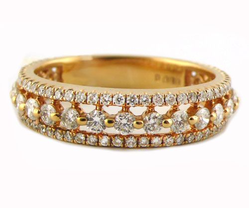 An 18ct Rose Gold and Diamond Eternity Ring