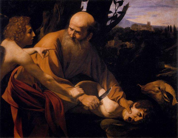 El sacrificio de Isaac.  Oleo en tela.  Galleria degli Uffizi, Florencia.  Consecionada por el Cardinal Bernini.