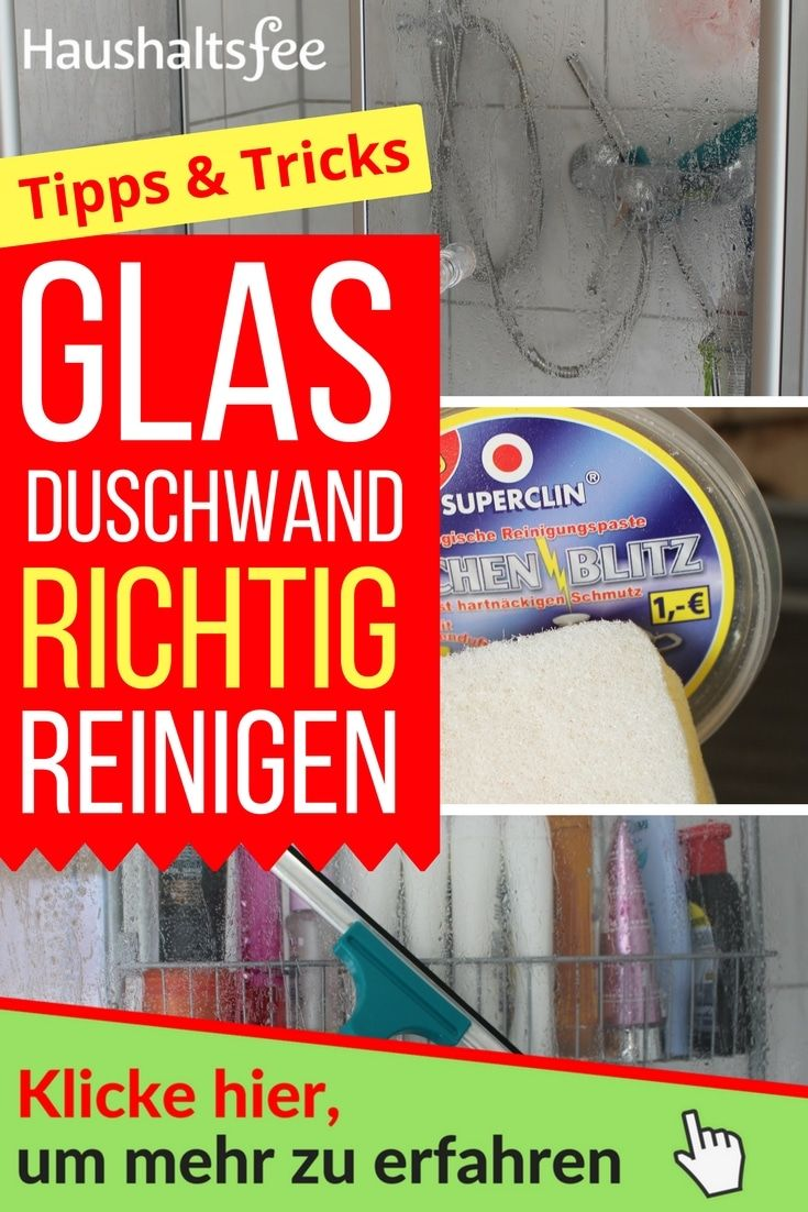 450 best flecken kalk schimmel images on pinterest - Glasduschwand reinigen ...