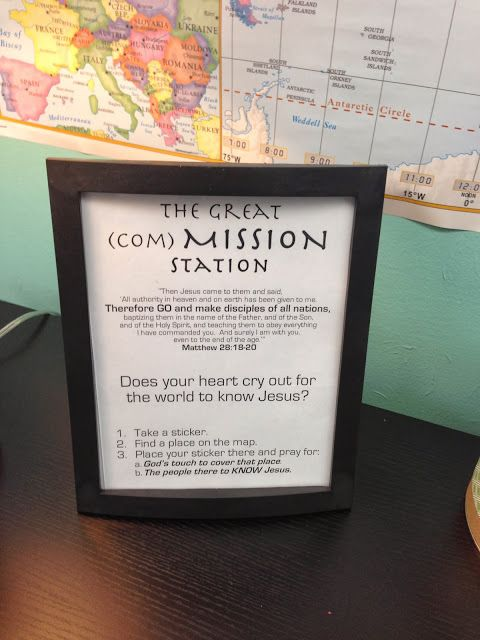 VCC Kids: Worship Response Stations: The Great (Com)Mission Station