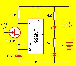 Detector de electricidad estática