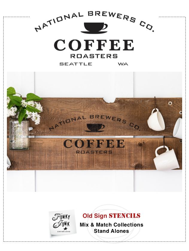 Coffeeaholics understand... we love our brew. And it's one of the highlights to getting up each day. Celebrate your love for coffee with this old time stencil design!This one was inspired from an old vintage coffee crate.