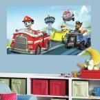60 in. W x 36 in. H Paw Patrol 2- Piece Peel and Stick Wall Decal Mural, Blue