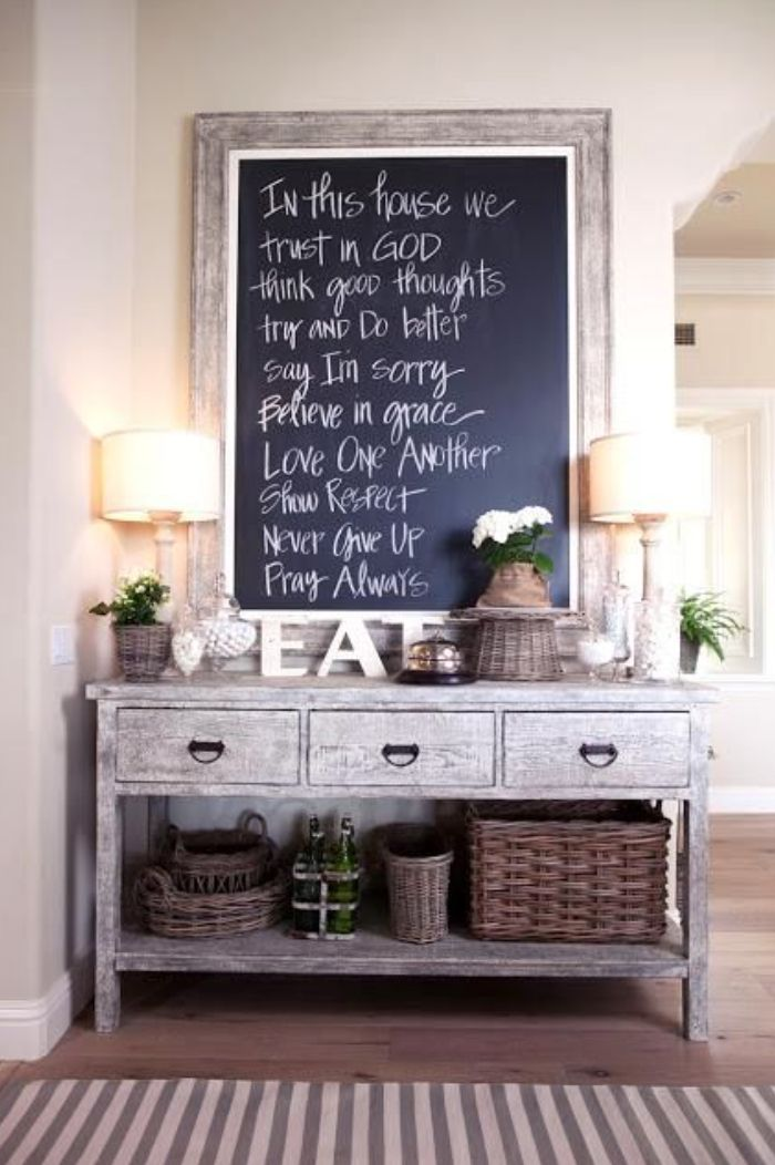 Display your family rules in a decorative way, where everyone can see them.