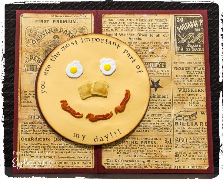 A Breakfast Smile! #eyeletoutlet #papercrafts #cards