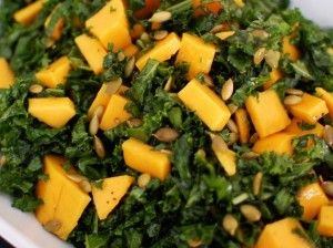Brazilian kale and mango salad
