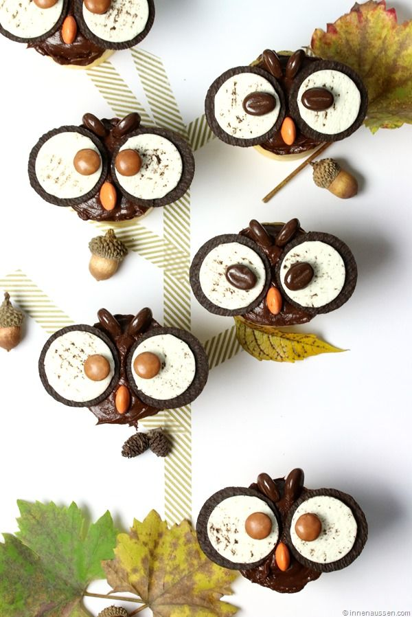Bäckerei: Hallo Herbst mit Eulen-Muffins