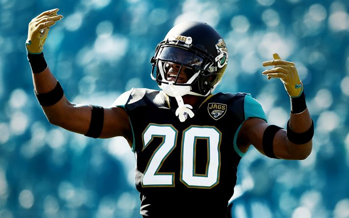 Download wallpapers Jalen Ramsey, 4k, american football, NFL, cornerback, Jacksonville Jaguars