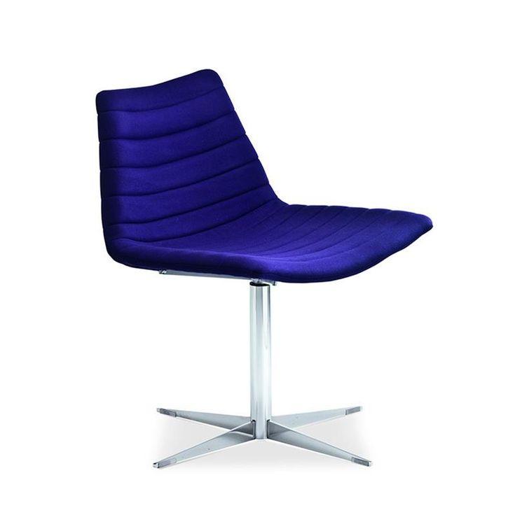 Chaise design pivotante tissu bleu électrique - Calco   http://www.coupdecoeur-design.fr/A-106526-chaise-design-pivotante-tissu-bleu-electrique-calco.aspx