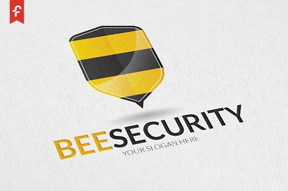 Bee Security Logo by ft.studio on @creativemarket