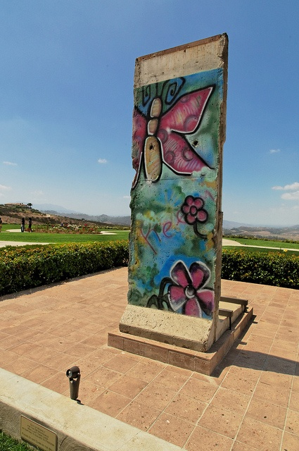 a piece of the Berlin Wall at the Reagan Presidential Library