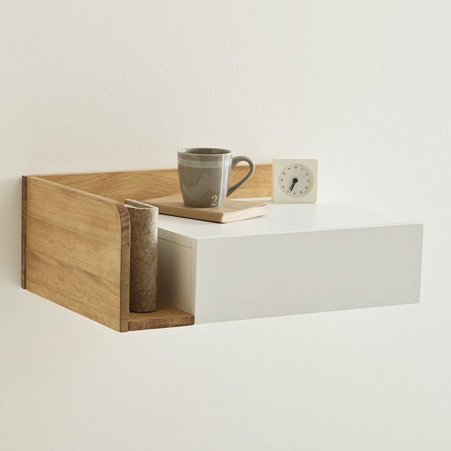 Jimi Wall Mounted Bedside Table, Right Hand Side La Redoute Interieurs Jimi  Wall Mounted Bedside Table, Right Hand Side. This Jimi Floating Bedside  Table ... Part 40