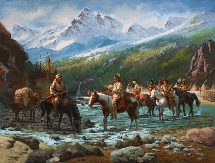 John Colter's  Encounter With The Blackfeet ~ Jim Carson