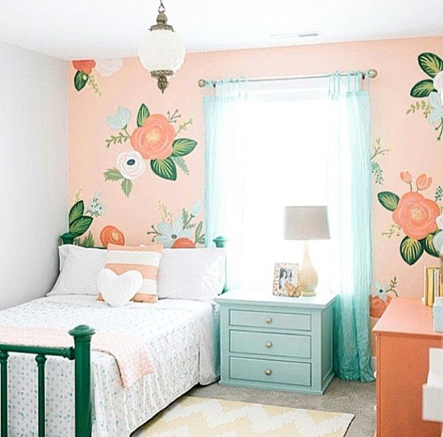 beautiful wall painting for a girl's room