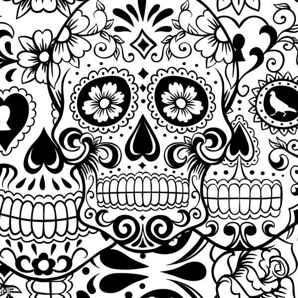 Sugar Skull Tumblr Theme Coloring Pages Free Download