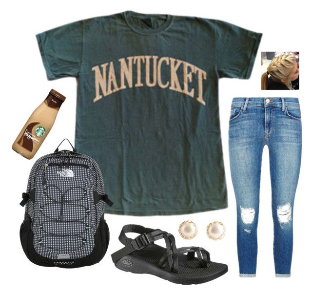 """Orientation bound!!"" by mackenziejameson ❤ liked on Polyvore featuring J Brand, Chaco and The North Face"