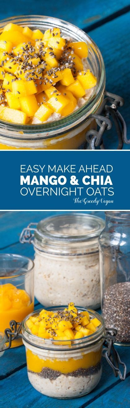 These mango and chia overnight oats are are a great way to start the day. Who wouldn't want a delicious breakfast without having to prep it in the morning?