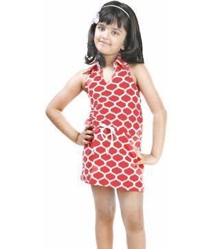 Naughty Ninos Red Casual Wear Dress