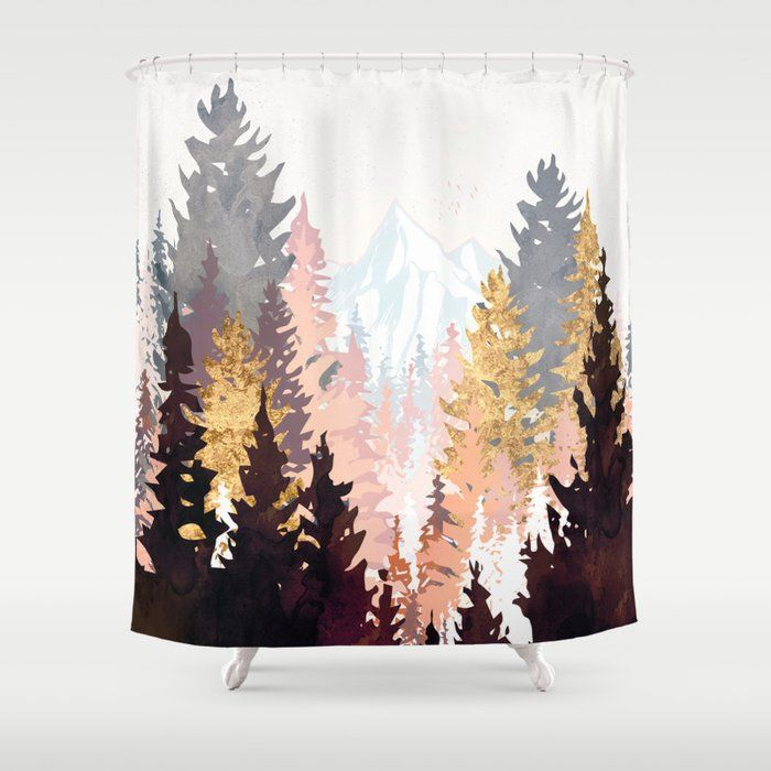 Buy Wine Forest Shower Curtain By Spacefrogdesigns Worldwide