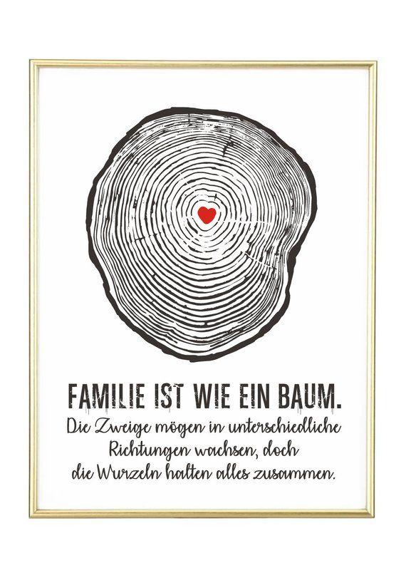 Baum Von Jolanswelt Kunstdrucke Familie Spruch Zitat