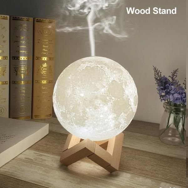 This Moon Shaped Essential Oil Diffuser Is An Air Humidifier And Night Light In One It Ha Humidifier Essential Oils Best Essential Oil Diffuser Led Night Lamp