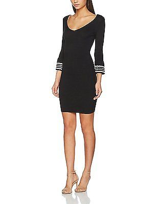 14, Black, MISS SELFRIDGE Women's Pleat Sleeve Dress NEW