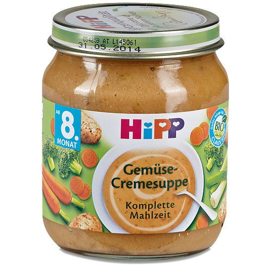 Hipp Gemüse-Cremesuppe Komplette Mahlzeit, Menü im dm Online Shop.