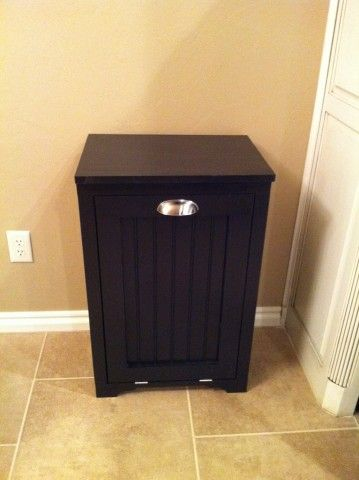 Trash Can Cabinet w/ Bead Board Insert