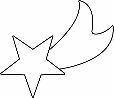 imagens de natal para colorir estrelas - Desenho de Estrela cadente para Colorir Desenhos de