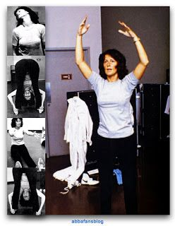 Frida exercising in Portland ahead of Abba's concert in the city in 1979...  #Abba #Frida #Portland http://abbafansblog.blogspot.co.uk/2017/09/frida.html
