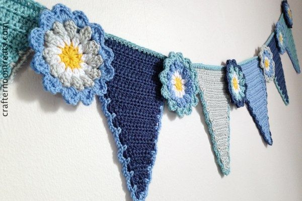 I've really enjoyed designing and making this new Crafternoon Treats flower bunting. The flower has become bigger and more decorative and the lovely crochet blooms are set off perfectly by the tapered triangular pennants. I used Deramores Studio DK for both the pennants and the flowers and in just four colours to tone with my […]