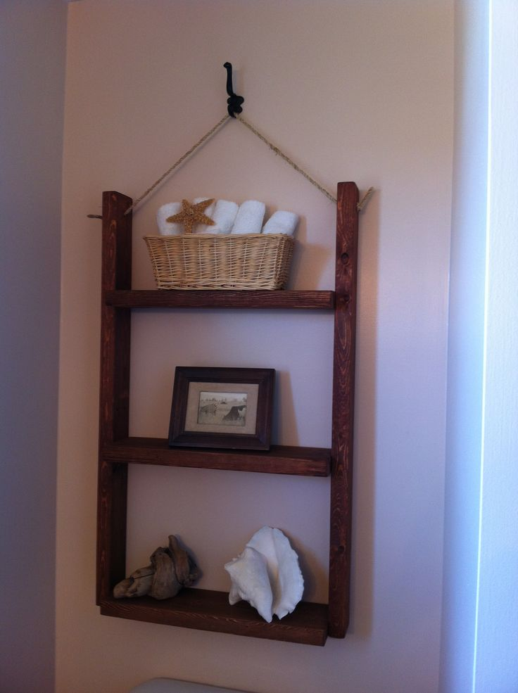 Hanging bathroom shelf