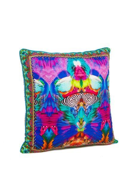 Camilla - Scarlet Asteria small square cushion 45 x 45cm
