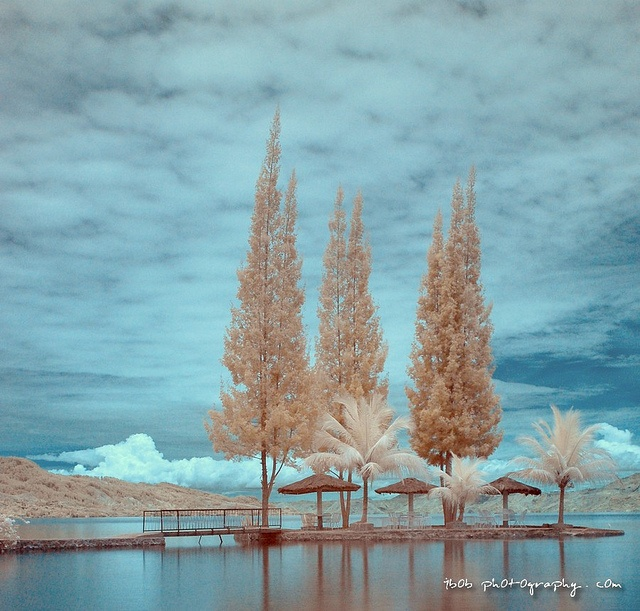 LANDSCAPE - Toba Lake (Infra Red R72) at Medan, Indonesia