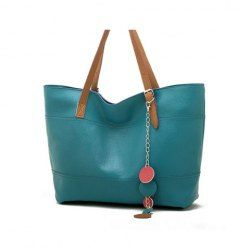 $8.37 Casual Women's Shoulder Bag With Candy Color and Pedant Design