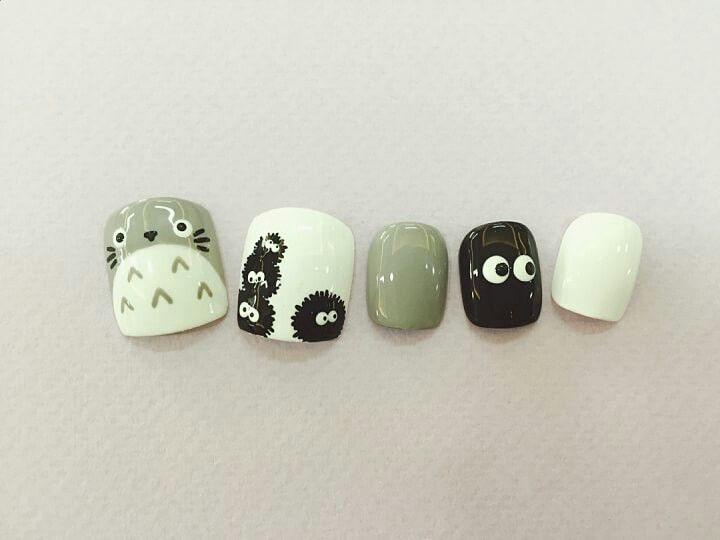 Totoro nail miyazaky hayao Studio Ghubli