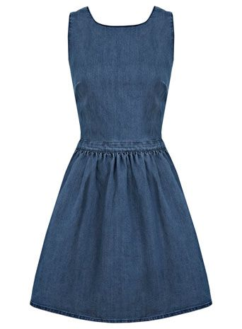 Blue Denim Prom Dress